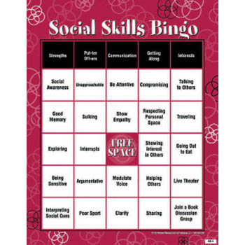 Social Skills Bingo Adult Version Wellness Reproductions
