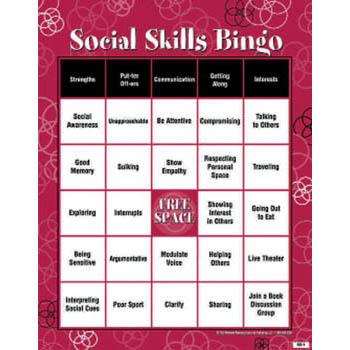 Social Skills BINGO! Teen Version Wellness Reproductions
